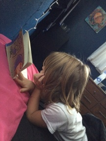 Little Miss woke up into a book- couldn't be MY daughter...